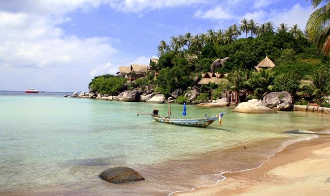 หาดทรายรีเกาะเต่า