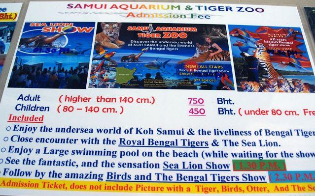 Samui Aquarium and Tiger Zoo