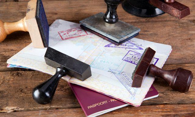 Stamps on passport