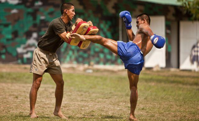 Royal Thai, Republic of Korea and US Marines share during a cultural sports exchange day