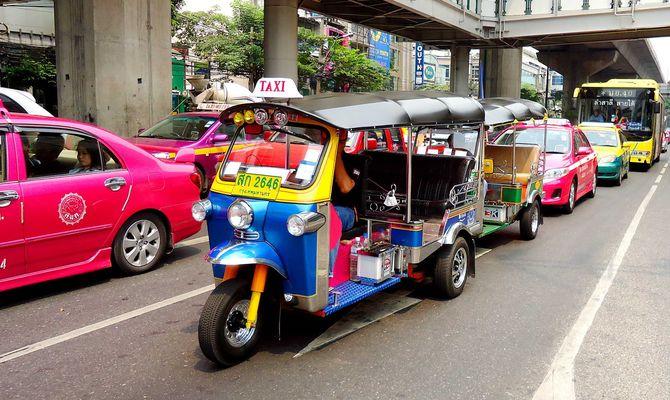Сколько стоит такси в Тайланде - автомобили, мотоциклы, тук-тук