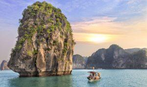 Halong_Bay__Cliff_and_Boat_