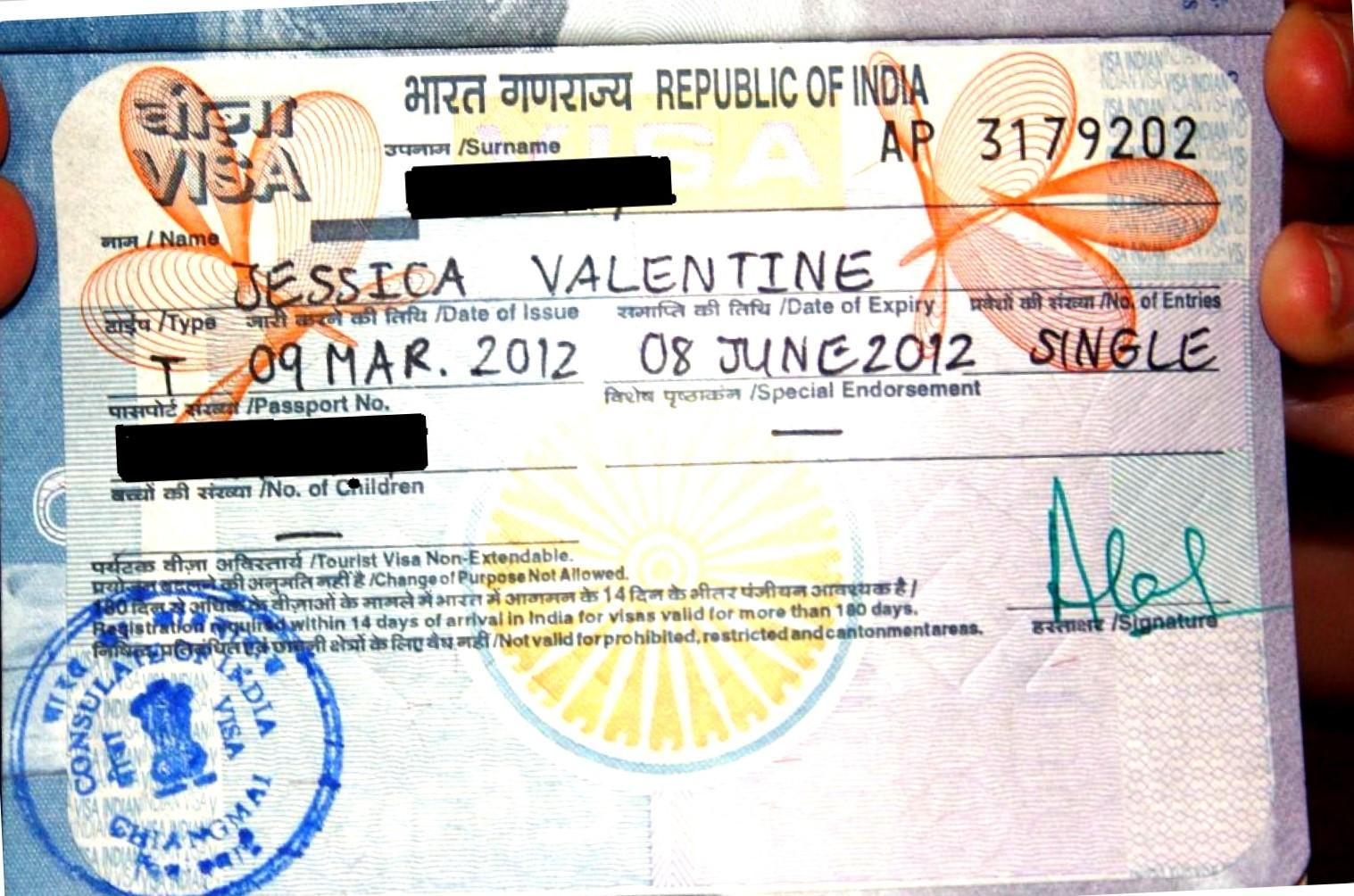 How to issue the visa to India, being in Thailand