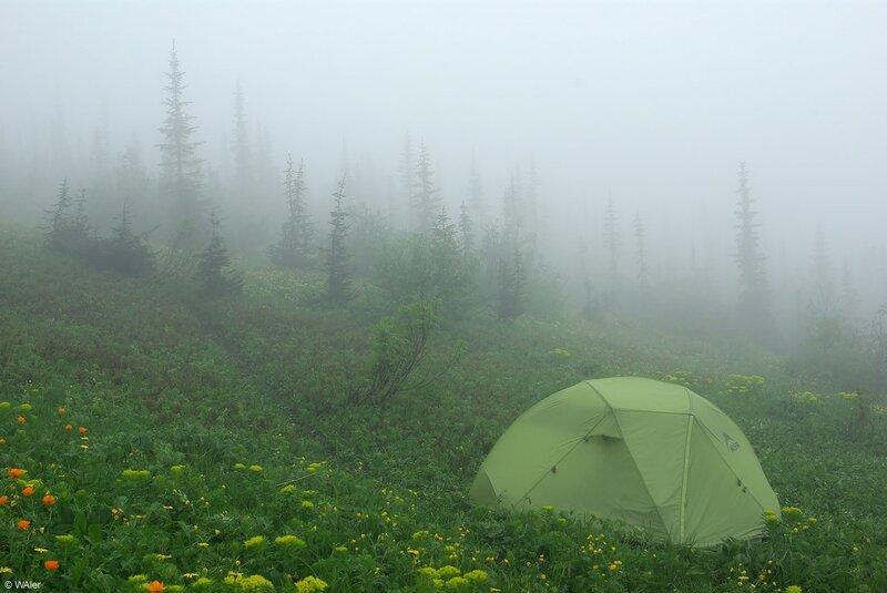 Палатка в дождь