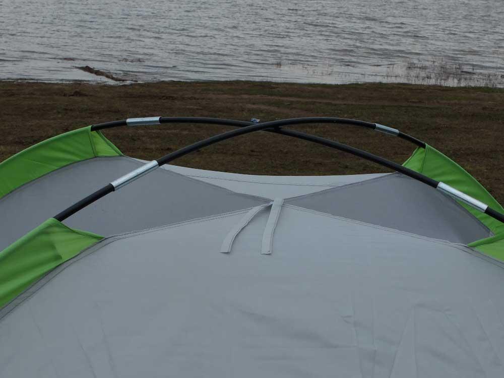 Палатка с стеклопластиковыми дугами