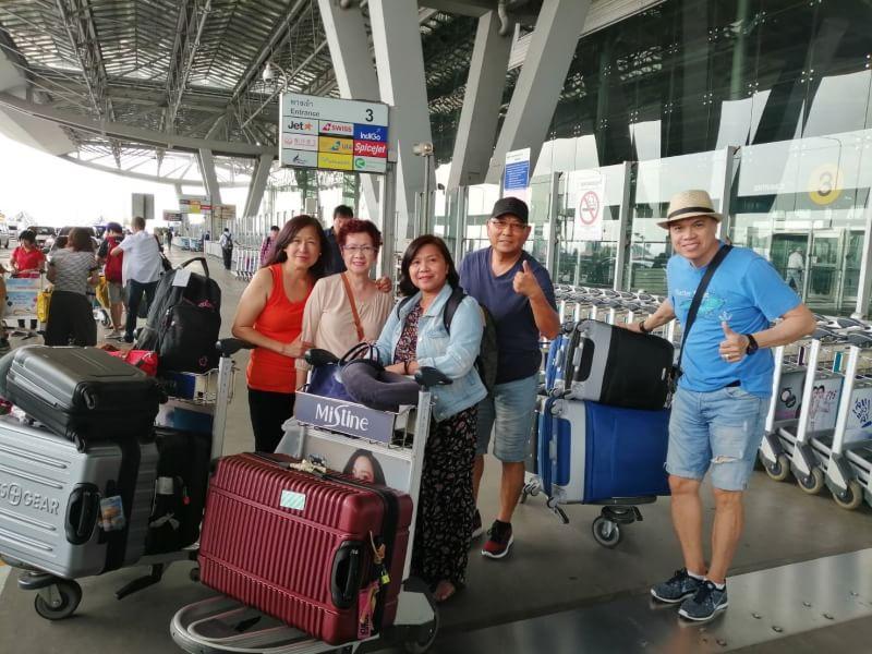 Bangkok hava limanında görüş