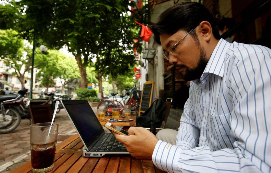 อินเทอร์เน็ตในร้านกาแฟในเวียดนาม
