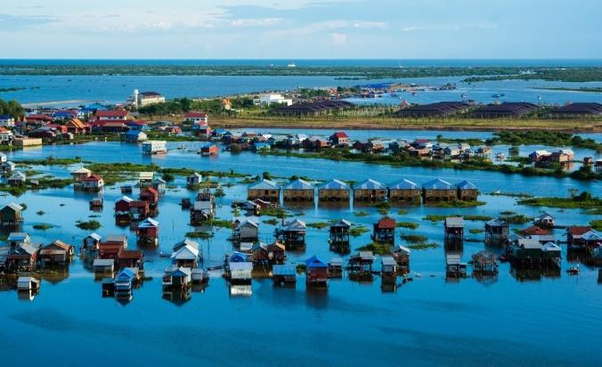 Experience life on the waters at the floating village
