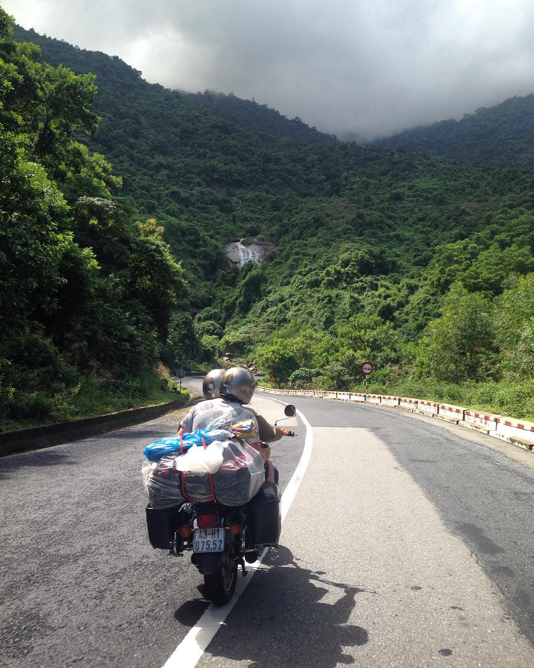 The Hai Van Pass between Danang and Hue