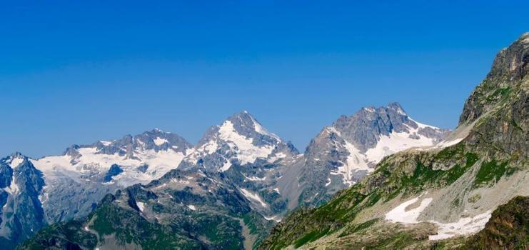 View to summits of Abhazia and Chuberi