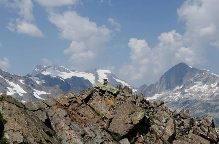 View to summits Trapetsia and Aguri